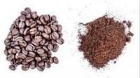 warna biji dan bubuk kopi